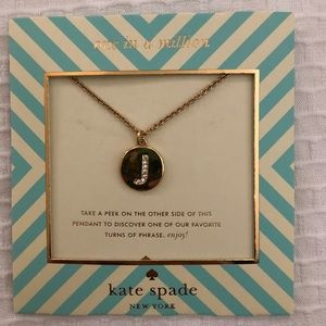 NWT Kate Spade One in a Million Initial Necklace